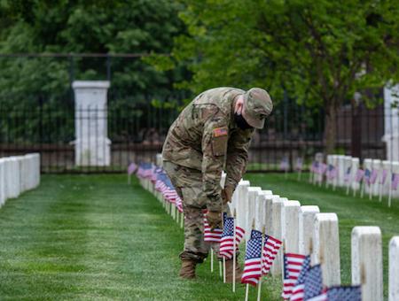 flags at Arlington