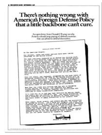 nothing wrong with foreign defense policy