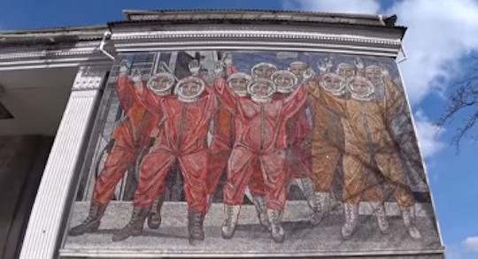 Mosaic of Soviet cosmonauts